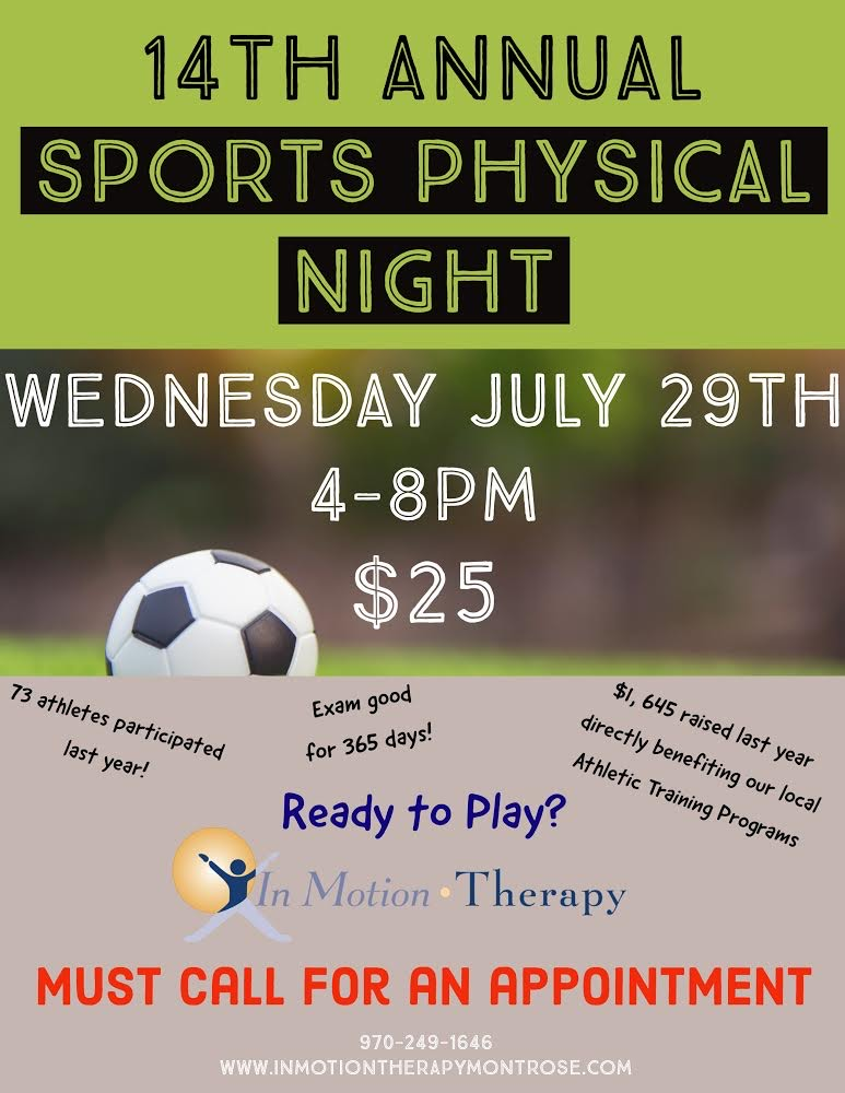 14th Annual Sports Physical Night Event